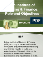 Indian Institute of Banking & Finance - Role and Objectives