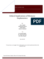 ethical implications of memory implantation
