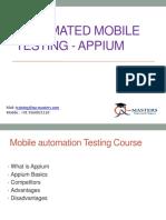 Automated Mobile Testing - Appium|appium selenium training