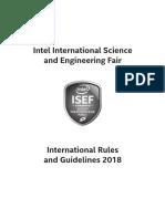 Isef Guidelines 2018