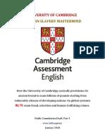 University Cambridge Modern Day Slavery Mastermind