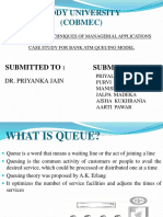 Case Study (QUEUING MODEL)