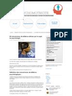 29 Mécanismes de Défense Utilisés Par Le Sujet en Psychologie - Sos Psychomotricité