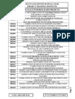MECHANICAL , AUTOMOBILE, Mechatronics &ROBOTICS PROJECT CATLG 2018