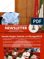 OFFICE OF THE SENATE PRESIDENT NEWSLETTER. WEEK OF MONDAY, NOVEMBER 27TH TO FRIDAY, DECEMBER 1ST, 2017