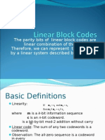 5 Linear Block Codes