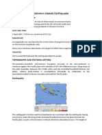 Solomon Islands Earthquake