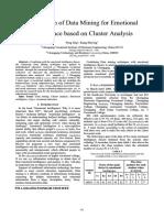 DataMining and Emotional Intelli - ClusterAnalysis