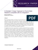 """Is Georgia's """"Unique"""" Approach to Church-State Relations Compatible with EU Integration?"""