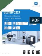 Bizhub c227 Datasheet