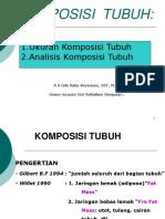 Komposisi Tubuh (Ukuran Dan Analisa Komposisi Tubuh