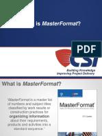 2013 07 17 MasterFormat
