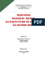 Masusing Banghay sa Pagtuturo ng Filipino sa Senior High