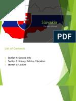 slovakia - geography presentation  1