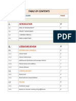 Sample Table of Contents 2003