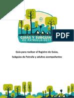 Gua Para Realizar El Registro de Guas Subguas de Patrullas y Adultos Acompaantes