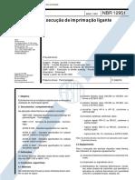 NBR 12951 - Execucao de Imprimacao Ligante