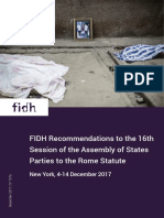 FIDH Recommendations to the 16th  Session of the Assembly of States  Parties to the Rome Statute (4-14 Dec 2017)