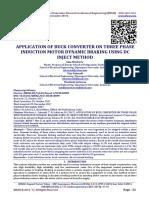 APPLICATION OF BUCK CONVERTER ON THREE PHASE INDUCTION MOTOR DYNAMIC BRAKING USING DC INJECT METHOD