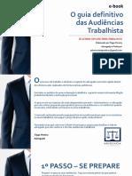 E-book o Guia Definitivo Das Audiências Trabalhista de Acordo Com a Reforma