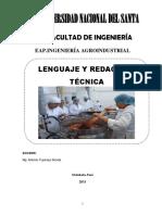 Manual de Lenguaje y Red. Técnica-Agroindustria