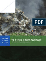 HRW - The Health Risks of Burning Waste in Lebanon
