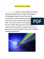 Applications of Prisms