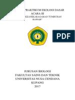 Laporan Praktikum Ekologi Dasar