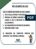 Letrero Bus