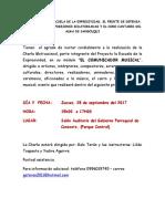CHARLA MOTIVACIONAL, El Comunicador Musical, Invitación Para El 28 de Septiembre Del 2017