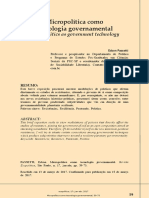 Micropolítica como tecnologia governamental - Edson Passetti
