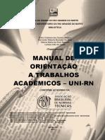 Manual Orientacao Trabalhos Academicos Unirn 2017