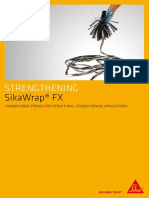 SikaWrap FX Carbon Fiber Strings for Structural Strengthening Applications