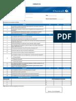 Formato para evaluación de Simulacros
