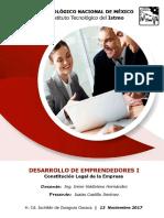 Constitución Legal de La Empresa - Emprendedores I