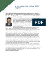 Understanding and Interpreting the New GAMP 5 Software Categories