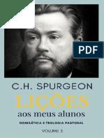 Li Es Aos Meus Alunos - Vol 3 - C H Spurgeon