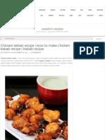 Chicken Kebab Recipe _ How to Make Chicken Kabab Recipe _ Kebab Recipe