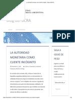 El informe del BCRA