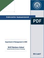 Enterprise Management BSACF Sana