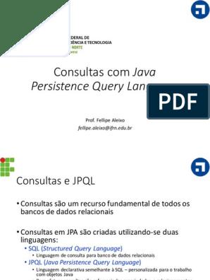 10 Consultas Em Jpql | Sql | Programação de Computadores
