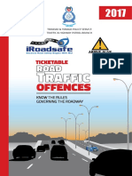 2017 Ticketable Traffic Offences