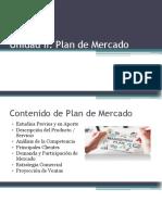 Unidad II. Plan de Mercado