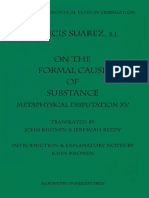 [Suarez,F, Kronen,J] on the Formal Cause of Substance