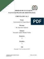 Cirugia Bucal i Deber 3 15-11-2017