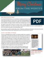 Wertz Christmas 2017 Prayer Letter