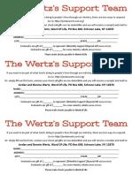 Wertz Support Slip (3 Up)