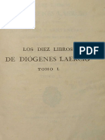Los Diez Libros de Diogenes Laercio. Vol 1