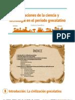 Presentación - Aportaciones de La Ciencia y Tecnología en El Período Grecolatino