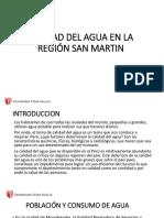 Calidad Del Agua en La Región San Martin